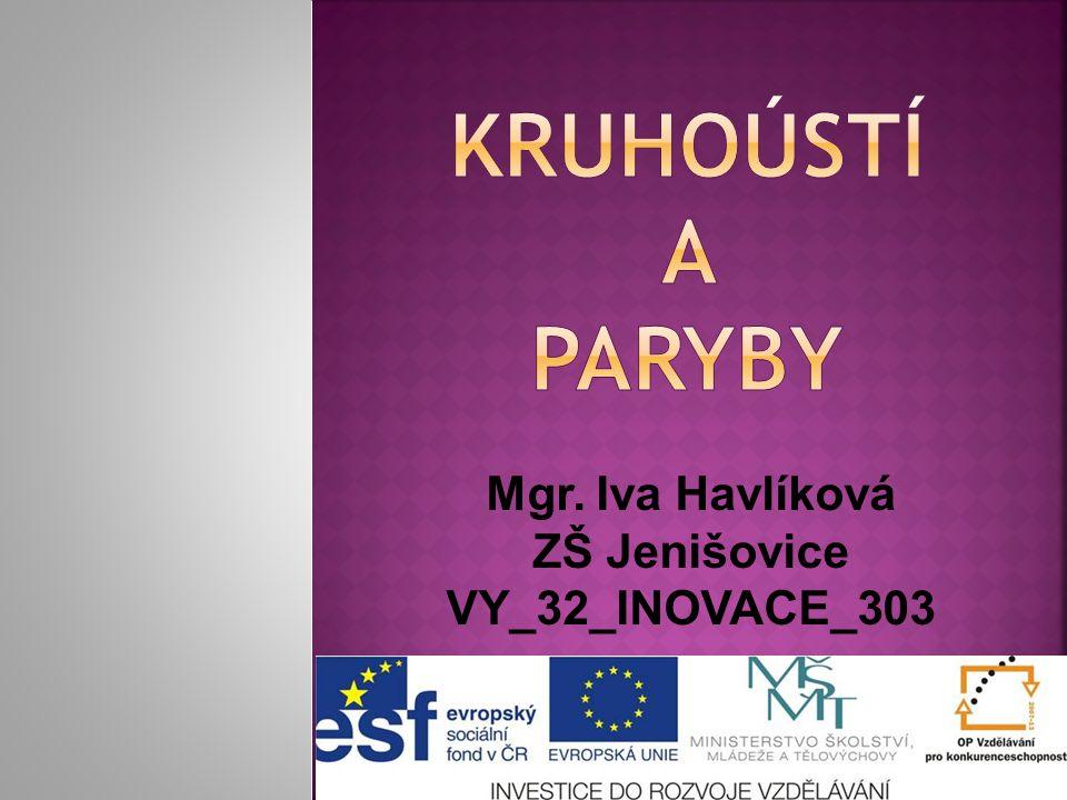 Mgr. Iva Havlíková ZŠ Jenišovice VY_32_INOVACE_303