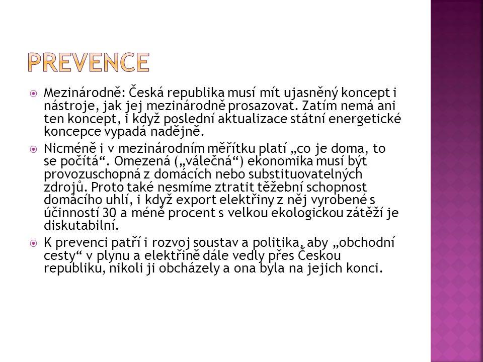  Mezinárodně: Česká republika musí mít ujasněný koncept i nástroje, jak jej mezinárodně prosazovat. Zatím nemá ani ten koncept, i když poslední aktua