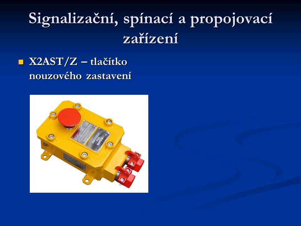 Signalizační, spínací a propojovací zařízení  X2AST/Z – tlačítko nouzového zastavení