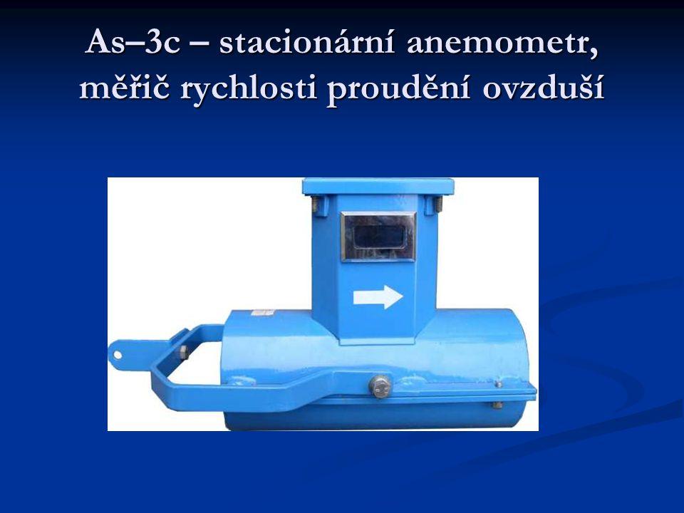 As–3c – stacionární anemometr, měřič rychlosti proudění ovzduší