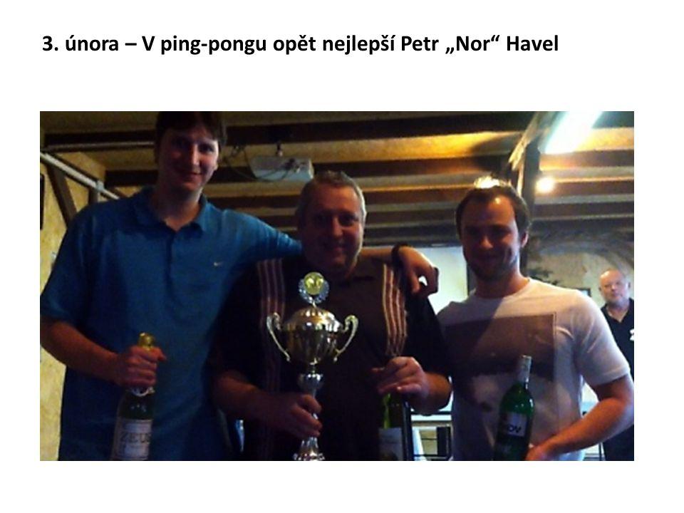"""3. února – V ping-pongu opět nejlepší Petr """"Nor"""" Havel"""
