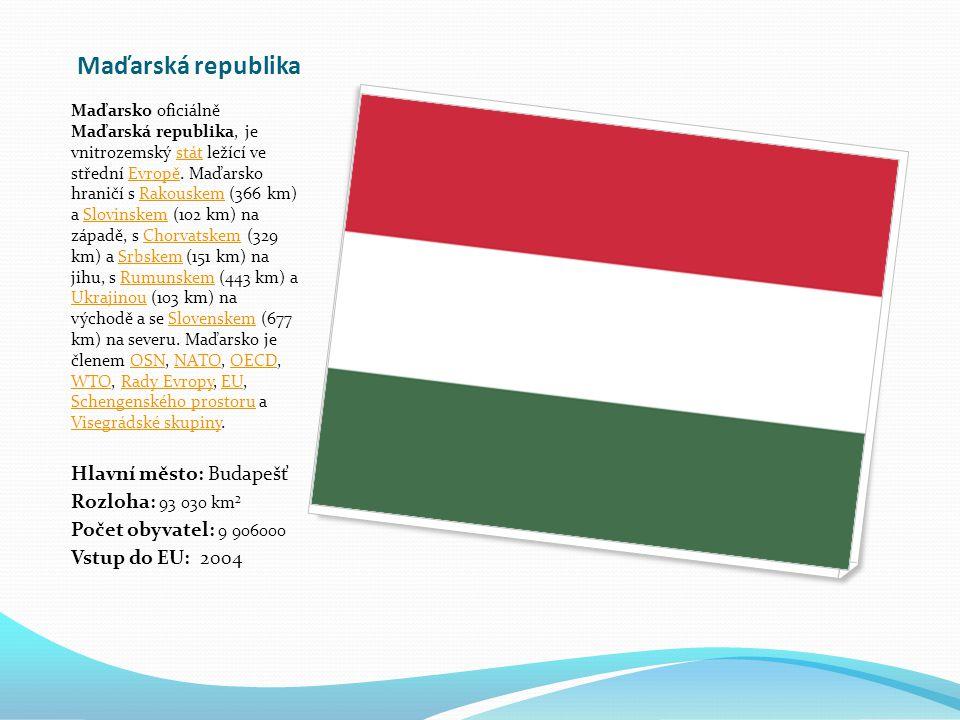 Maďarská republika Maďarsko oficiálně Maďarská republika, je vnitrozemský stát ležící ve střední Evropě.