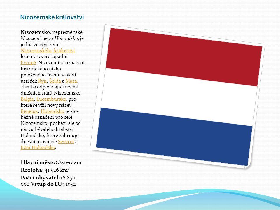 Nizozemské království Nizozemsko, nepřesně také Nizozemí nebo Holandsko, je jedna ze čtyř zemí Nizozemského království ležící v severozápadní Evropě.