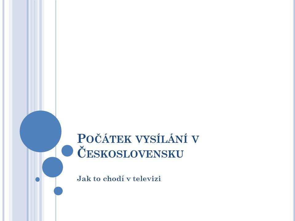 P OČÁTEK VYSÍLÁNÍ 1.veřejné vystoupení Františka Filipovského – 1.
