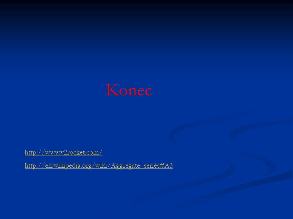 Konec http://www.v2rocket.com/ http://en.wikipedia.org/wiki/Aggregate_series#A3