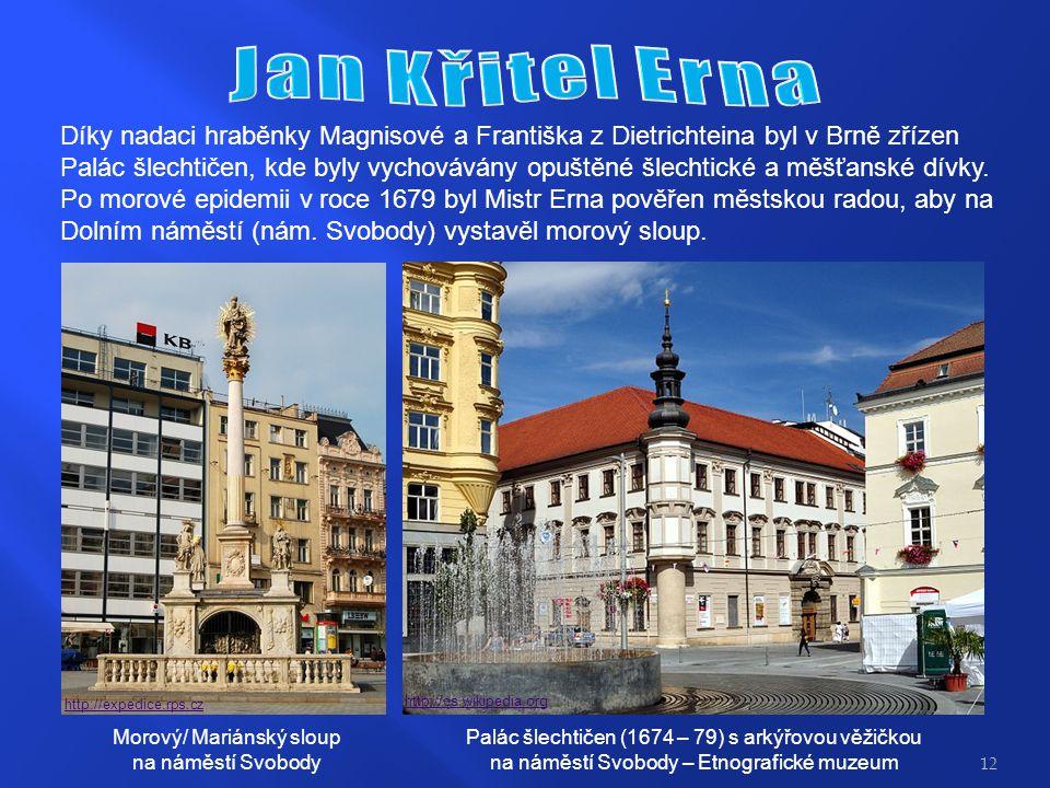 Díky nadaci hraběnky Magnisové a Františka z Dietrichteina byl v Brně zřízen Palác šlechtičen, kde byly vychovávány opuštěné šlechtické a měšťanské dívky.