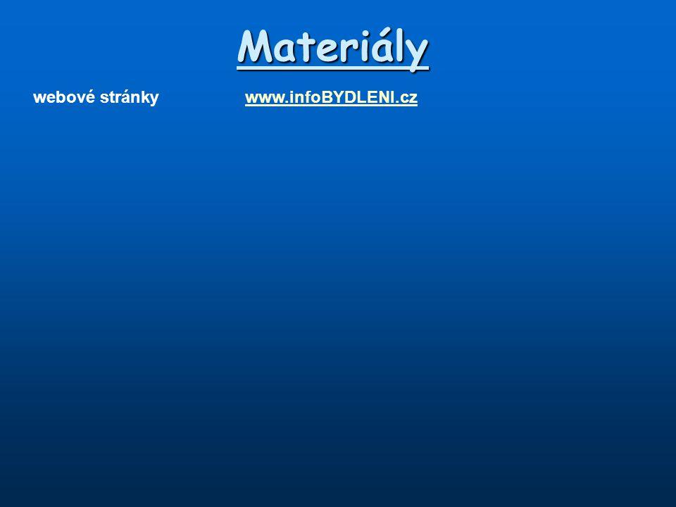 Materiály webové stránkywww.infoBYDLENI.czwww.infoBYDLENI.cz