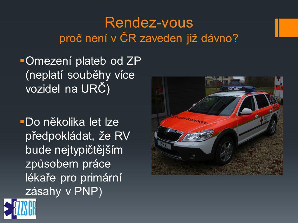 Rendez-vous proč není v ČR zaveden již dávno?  Omezení plateb od ZP (neplatí souběhy více vozidel na URČ)  Do několika let lze předpokládat, že RV b