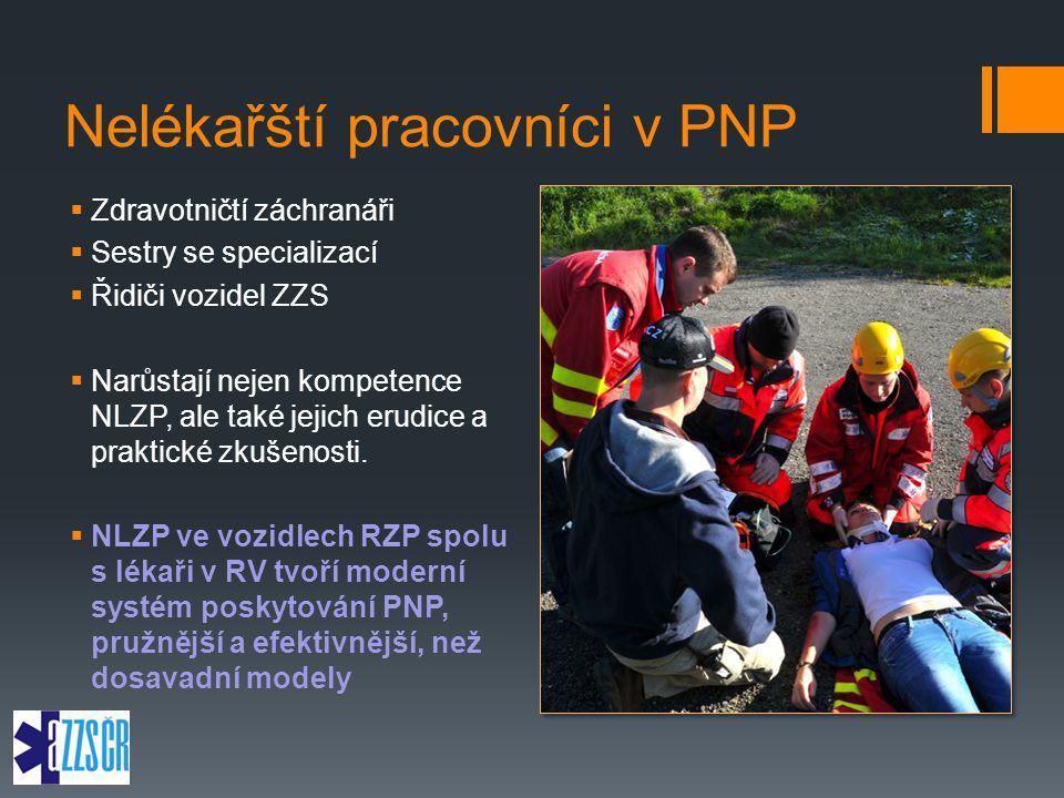Nelékařští pracovníci v PNP  Zdravotničtí záchranáři  Sestry se specializací  Řidiči vozidel ZZS  Narůstají nejen kompetence NLZP, ale také jejich