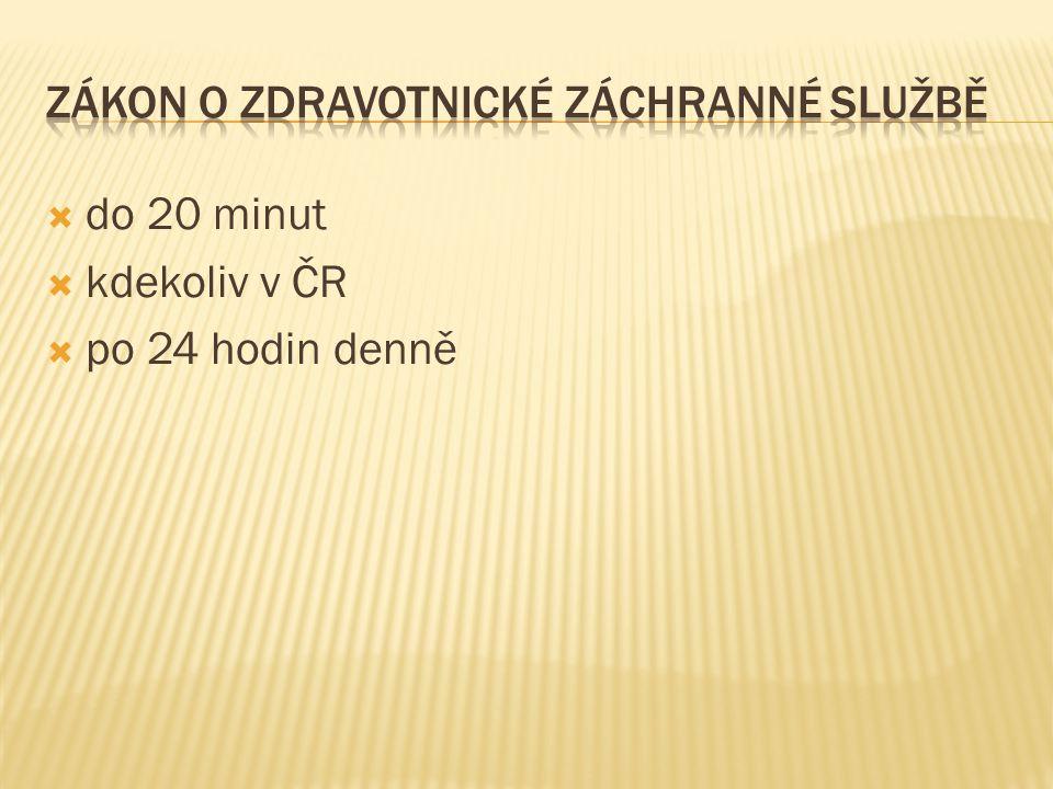  do 20 minut  kdekoliv v ČR  po 24 hodin denně