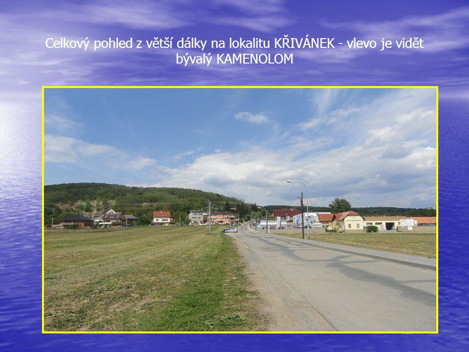 Pohled na lokalitu KŘIVÁNEK, která téměř tvoří satelitní část BOSONOH Zde vznikly nové ulice vilového provedení a po pravé straně jsou budovy firem -