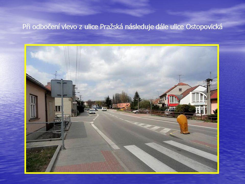 Obcí protéká potok LESKAVA pohled z mostu silnice první třídy – ulice Pražská