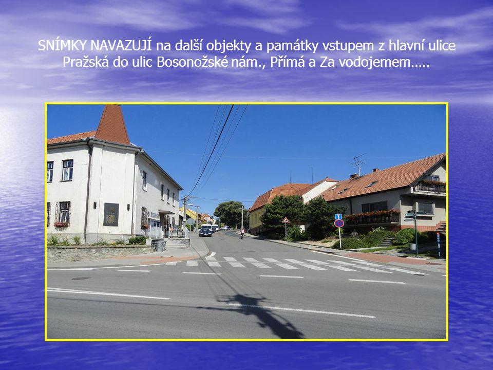 Pokračování v průjezdu ulicí Pražskou. V tomto areálu byl postaven v r. 1984 jako první Tranzitní plynovod a potom dostavovány další budovy firem - so