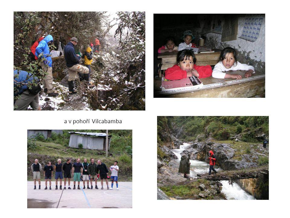 a v pohoří Vilcabamba