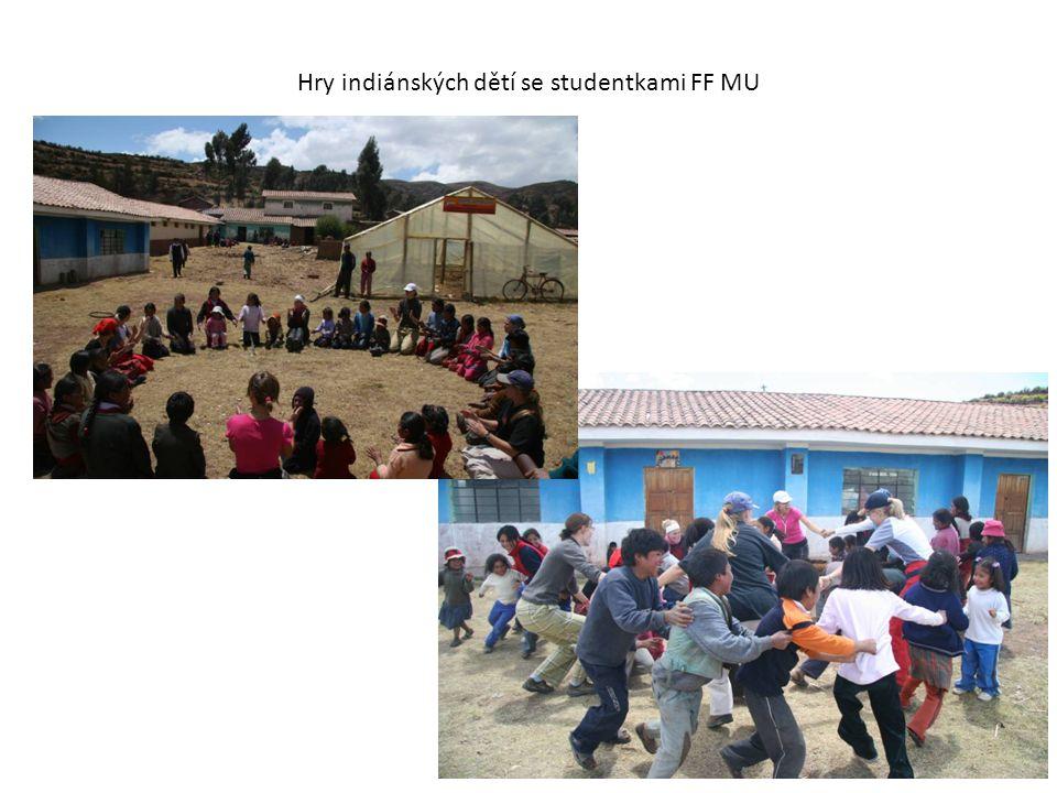 Hry indiánských dětí se studentkami FF MU