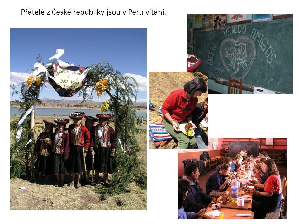 Přátelé z České republiky jsou v Peru vítáni.