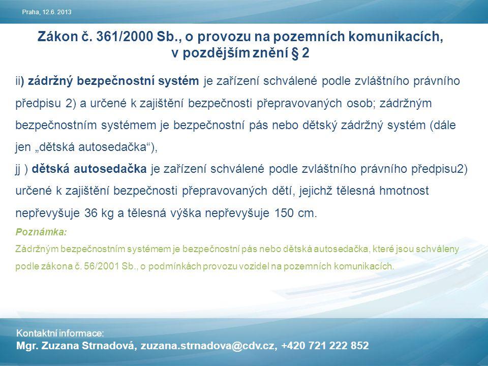 Kontaktní informace: Mgr.