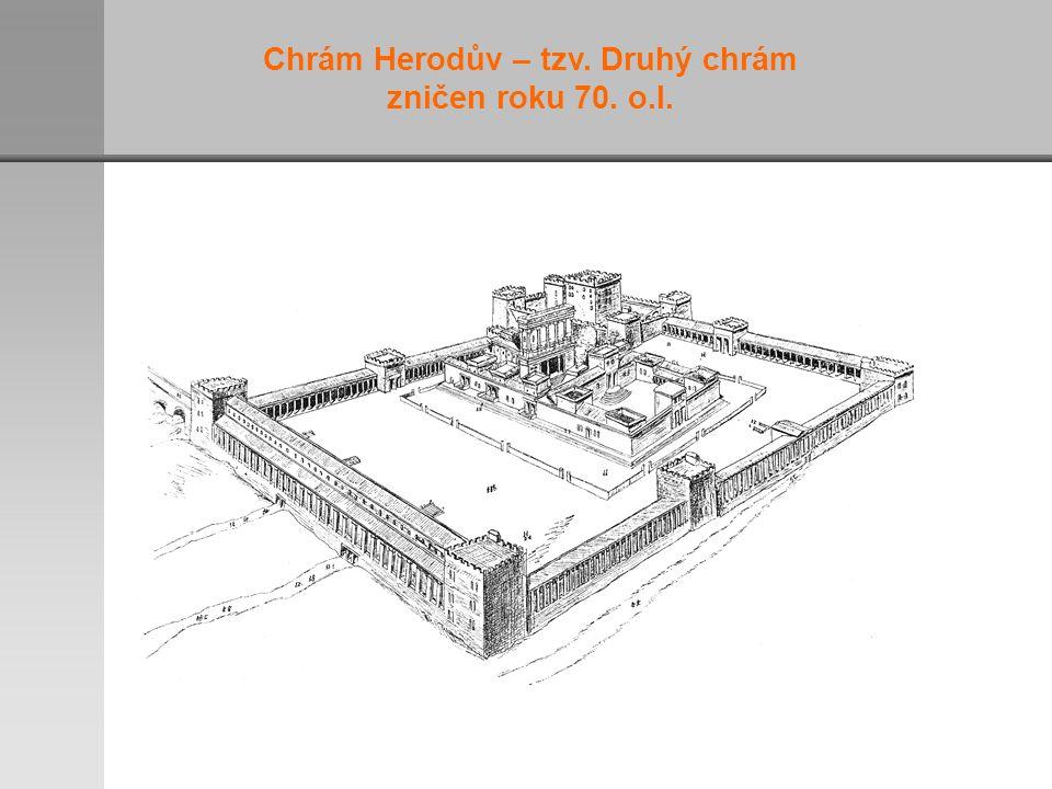 Chrám Herodův – tzv. Druhý chrám zničen roku 70. o.l.