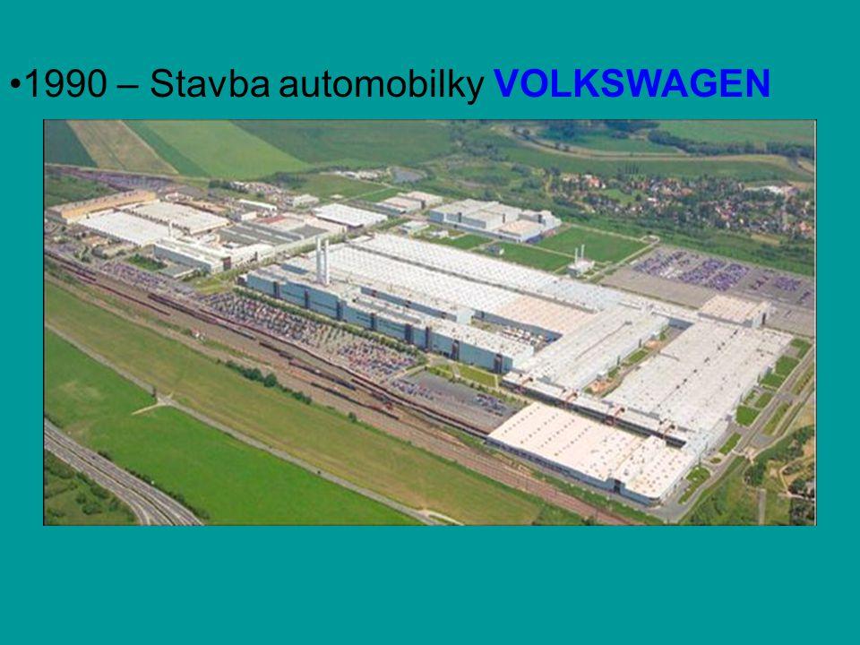 •1990 – Stavba automobilky VOLKSWAGEN MOSEL ve Zwickau
