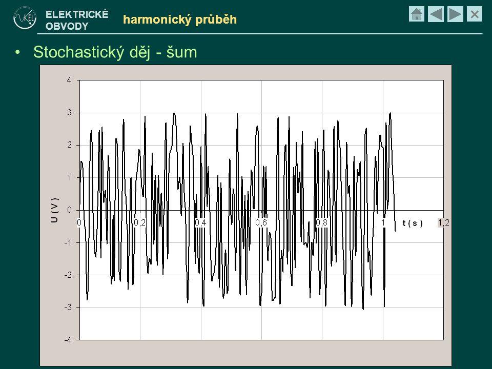 × ELEKTRICKÉ OBVODY harmonický průběh •Stochastický děj - šum