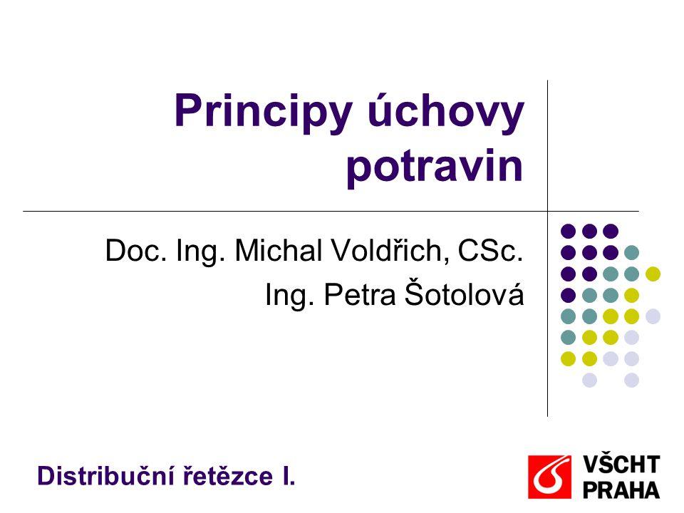 Principy úchovy potravin Doc. Ing. Michal Voldřich, CSc. Ing. Petra Šotolová Distribuční řetězce I.
