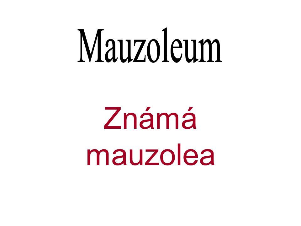 Známá mauzolea
