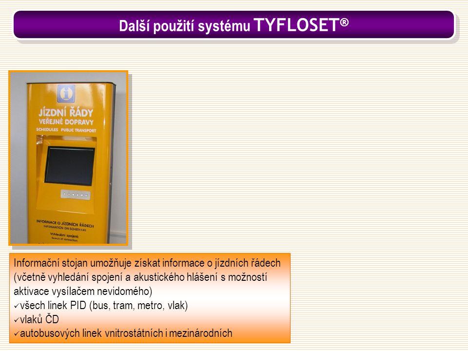 Informační stojan umožňuje získat informace o jízdních řádech (včetně vyhledání spojení a akustického hlášení s možností aktivace vysílačem nevidomého