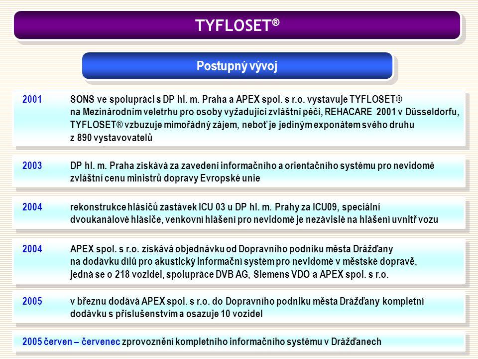 2005 červen – červenec zprovoznění kompletního informačního systému v Drážďanech 2005v březnu dodává APEX spol. s r.o. do Dopravního podniku města Drá