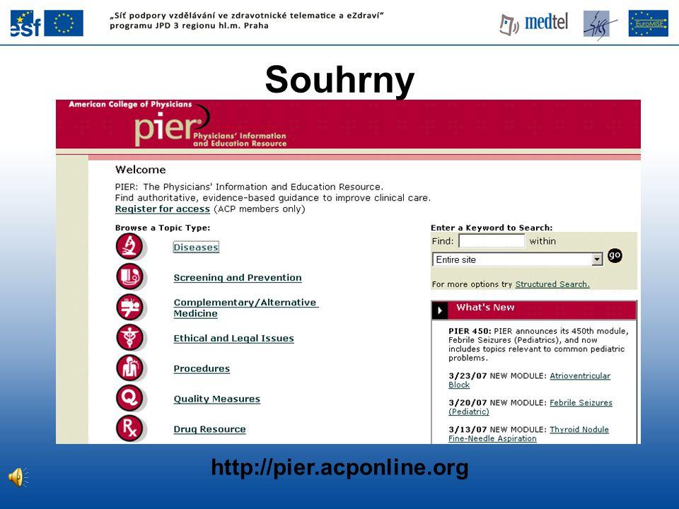 http://pier.acponline.org Souhrny