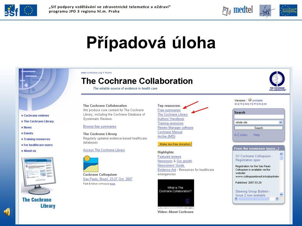 Specializované vyhledávací nástroje TRIP - Turning Research Into Practice www.tripdatabase.com