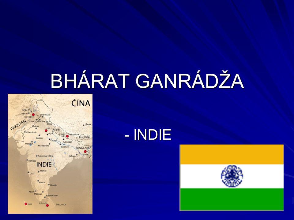 Oficiální název V češtině: Indická republika V angličtině: Republic of India V hindi: Bhárat Ganrádža