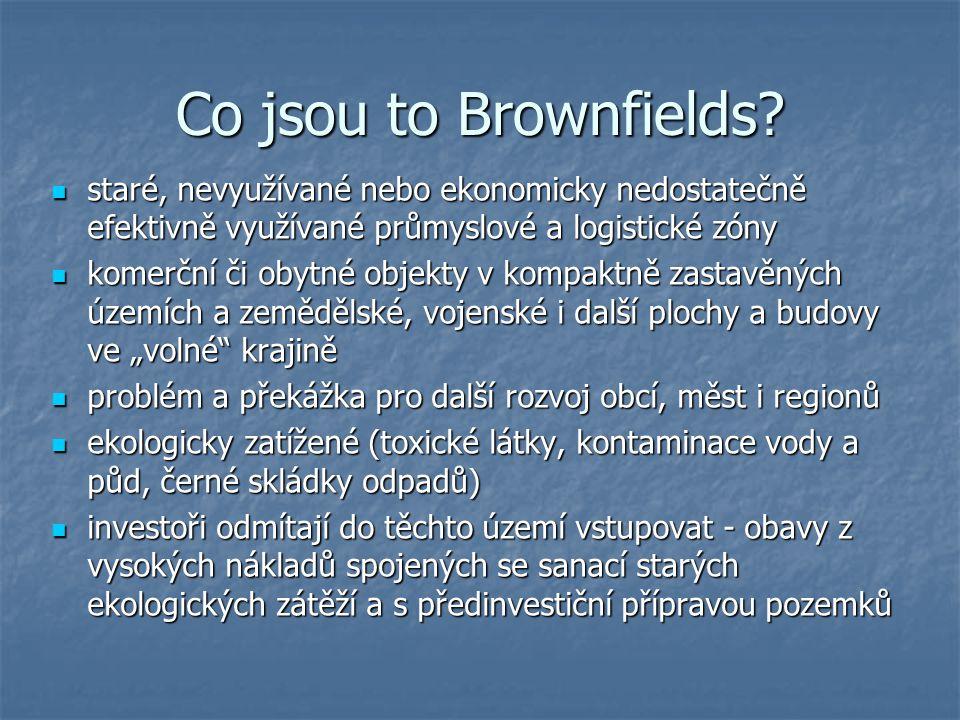 Příčiny vzniku Brownfields  hl.