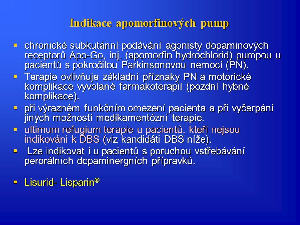 Duodopa  Nově se jeví slibným intrajejunální podávání L-DOPA ve formě gelu (Duodopa).