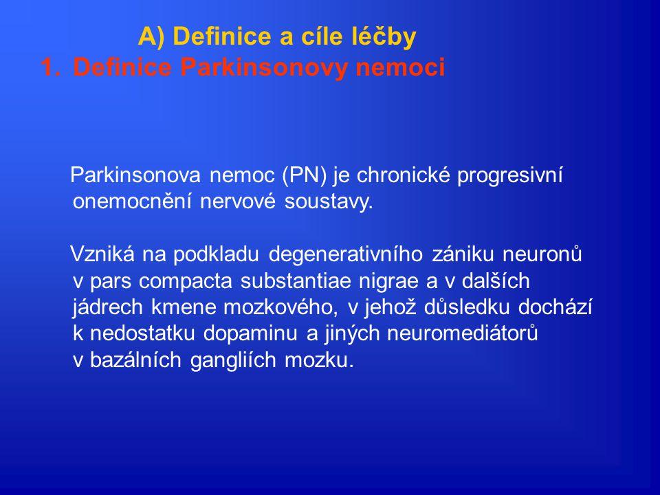 Novinky v léčbě Parkinsonovy nemoci Martin Bareš I.neurologická klinika FN u sv.