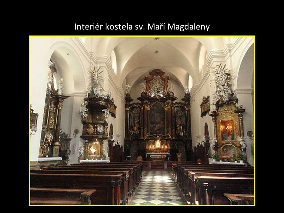 Kostel sv. Maří Magdaleny na Masarykové ulici je jednoduchá chrámová stavba –délka 36 met. šířka 25m