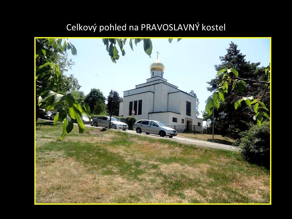 Pravoslavný kostel na konci Pellicové a Gorazdové ulici