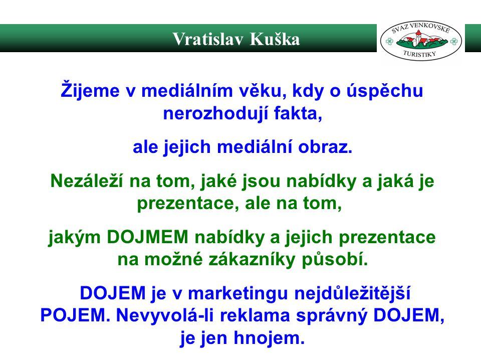 Vratislav Kuška Žijeme v mediálním věku, kdy o úspěchu nerozhodují fakta, ale jejich mediální obraz.