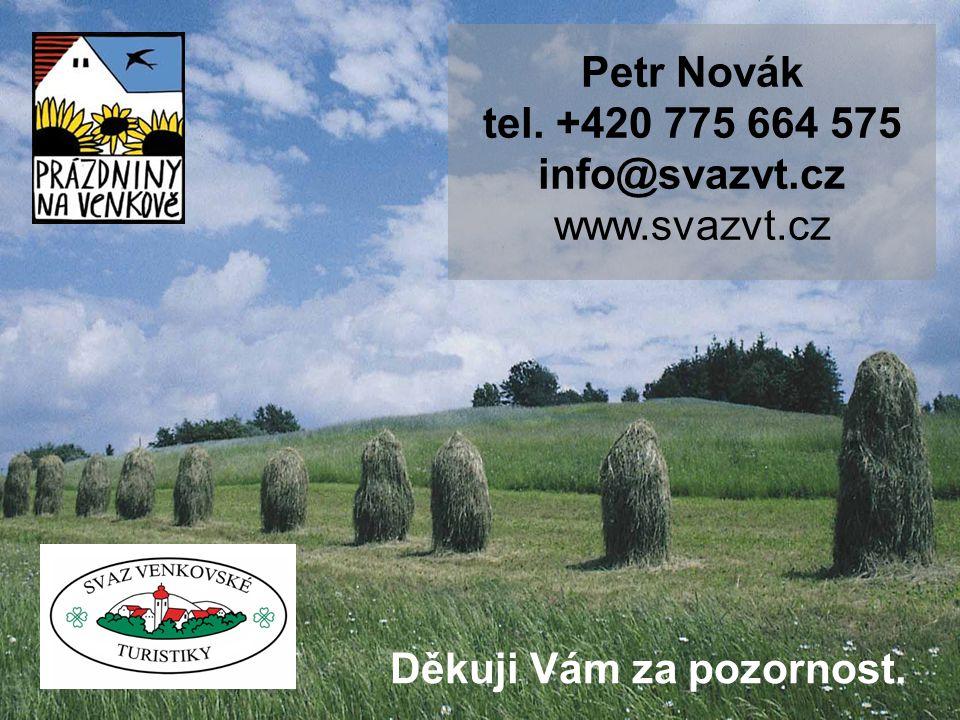 Petr Novák tel. +420 775 664 575 info@svazvt.cz www.svazvt.cz Děkuji Vám za pozornost.
