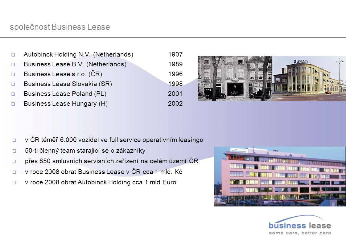  Autobinck Holding N.V. (Netherlands) 1907  Business Lease B.V. (Netherlands) 1989  Business Lease s.r.o. (ČR)1996  Business Lease Slovakia (SR)19