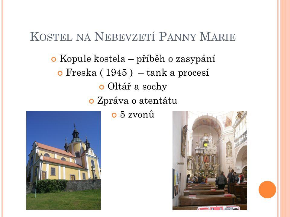 """N ÁMĚSTÍ Kašna Dům F.Hrubína Hostinec 1959 – Film """"Srpnová neděle 1960 – F."""