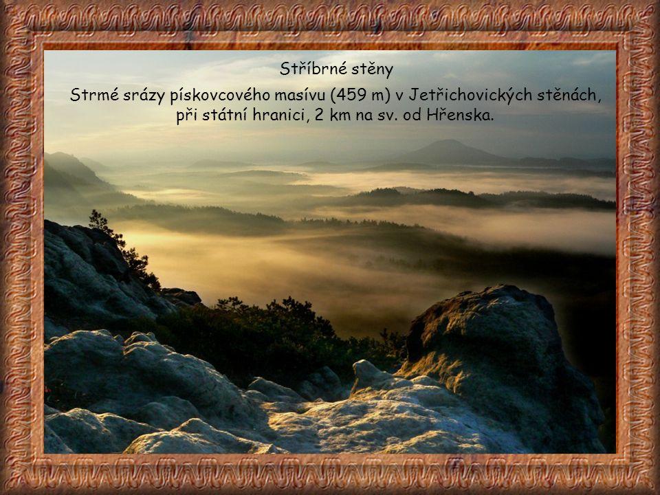 Velký Pravčický kužel skalní věž, vyhledávaná horolezci