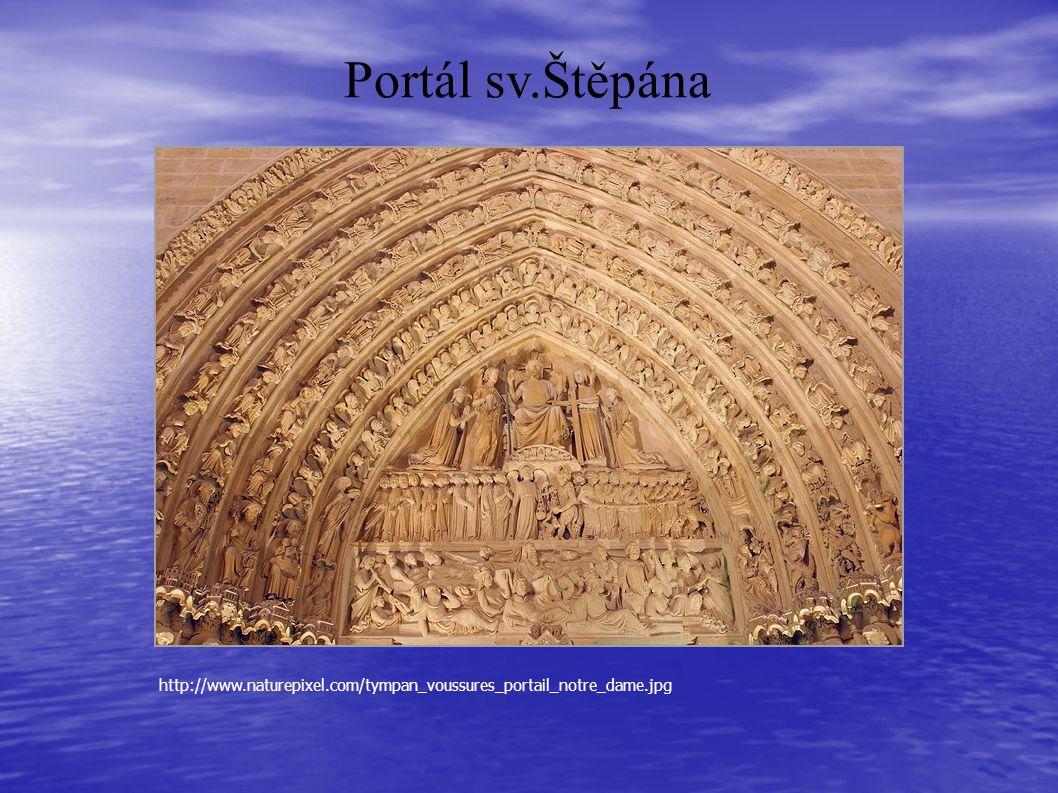 Portál sv.Štěpána http://www.naturepixel.com/tympan_voussures_portail_notre_dame.jpg