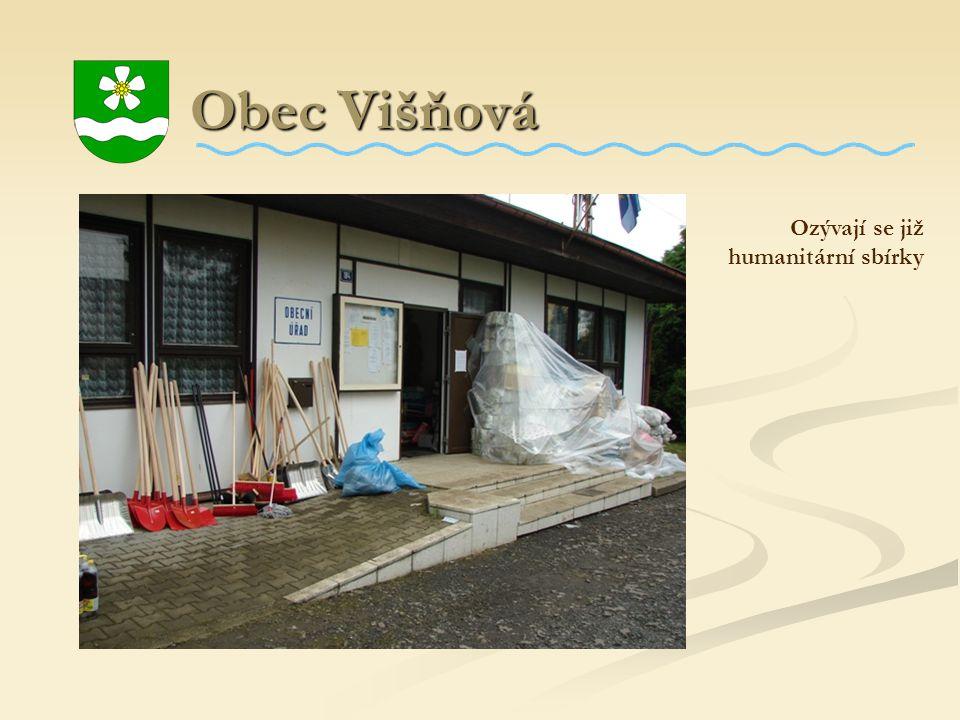 Obec Višňová Obec Višňová Ozývají se již humanitární sbírky