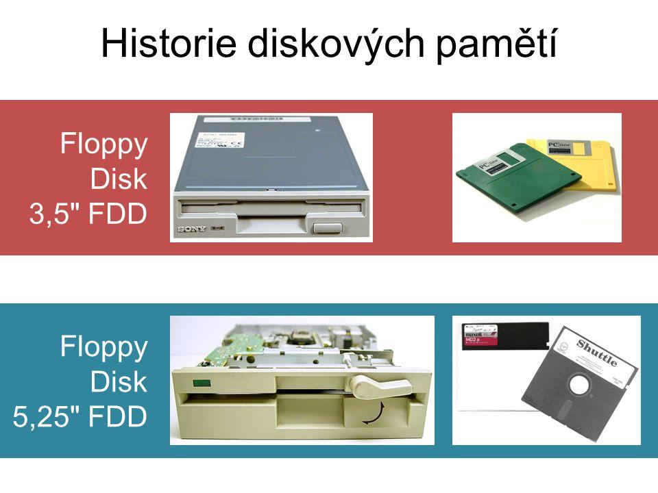 Floppy Disk 3,5 FDD Historie diskových pamětí Floppy Disk 5,25 FDD