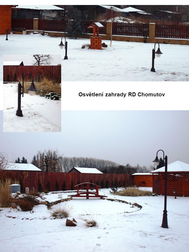 Osvětlení zahrady RD Chomutov