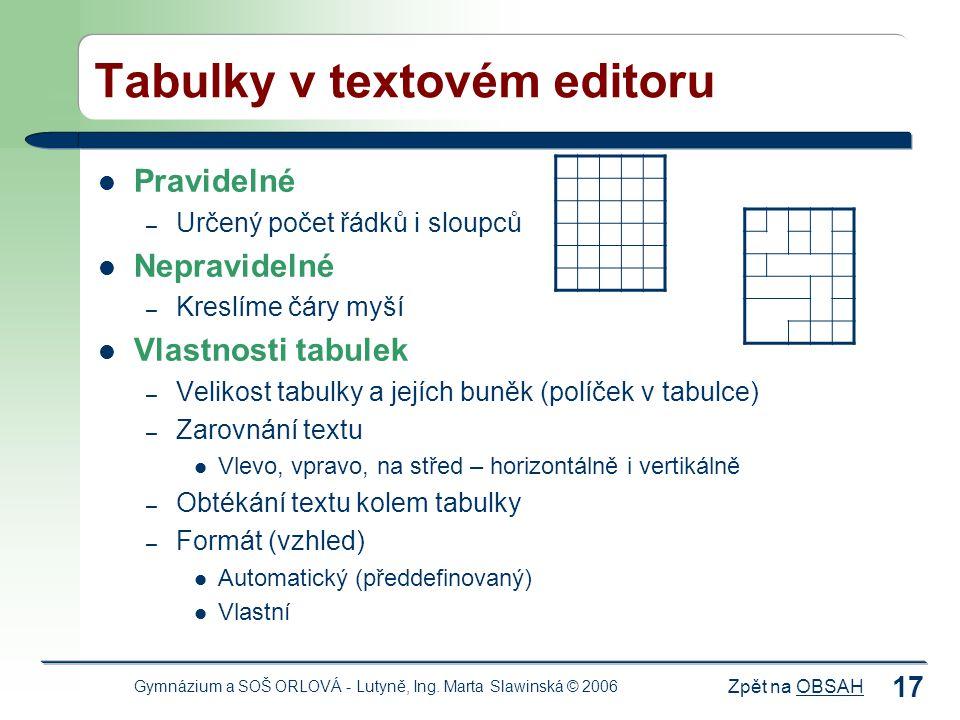 Zpět na OBSAHOBSAH Gymnázium a SOŠ ORLOVÁ - Lutyně, Ing.