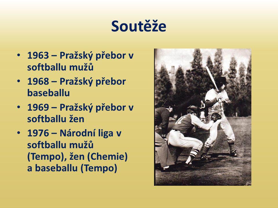 Soutěže • 1963 – Pražský přebor v softballu mužů • 1968 – Pražský přebor baseballu • 1969 – Pražský přebor v softballu žen • 1976 – Národní liga v sof