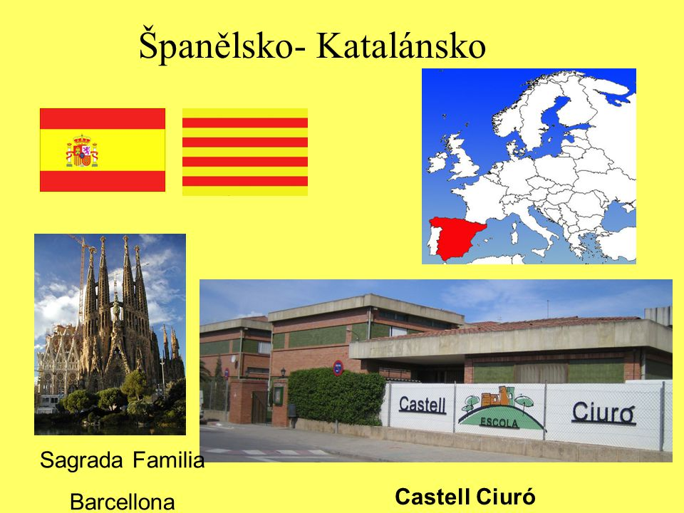 Španělsko- Katalánsko Castell Ciuró Sagrada Familia Barcellona