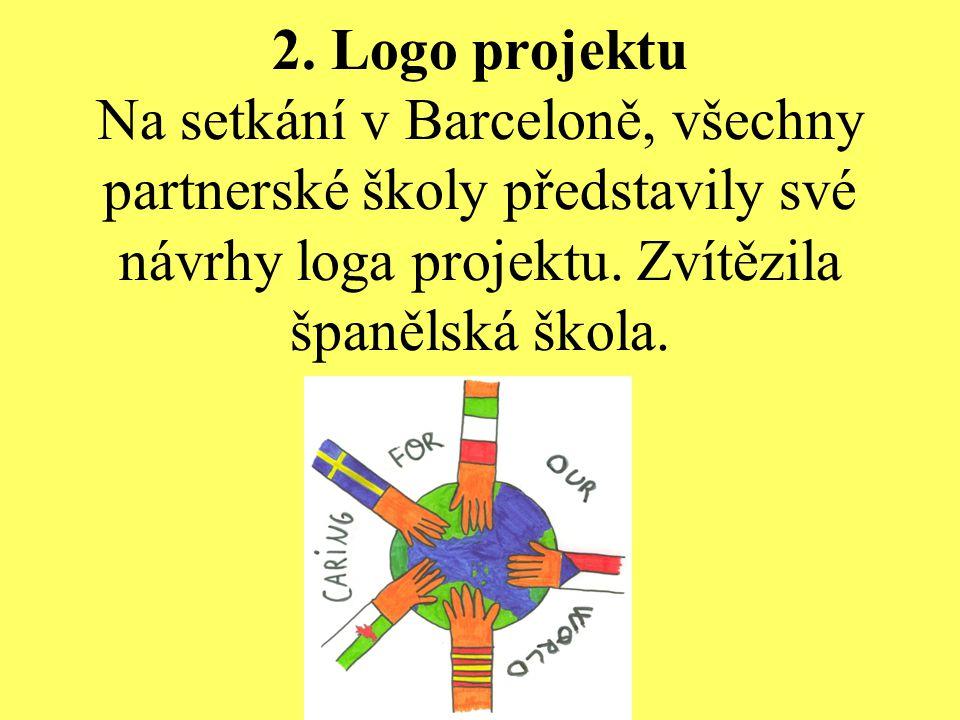 2. Logo projektu Na setkání v Barceloně, všechny partnerské školy představily své návrhy loga projektu. Zvítězila španělská škola.