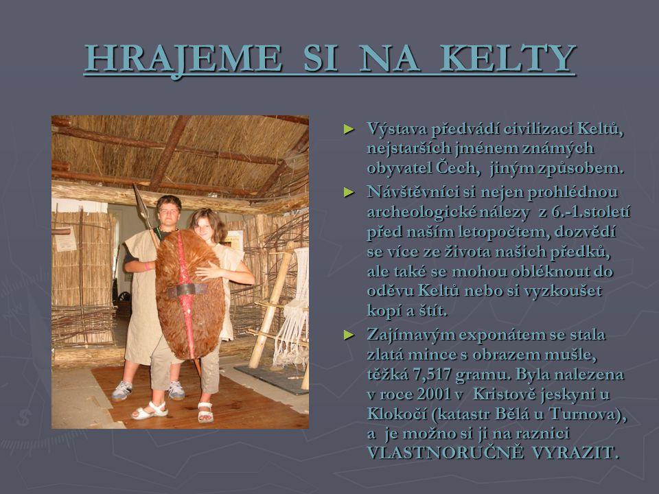 HRAJEME SI NA KELTY ► Výstava předvádí civilizaci Keltů, nejstarších jménem známých obyvatel Čech, jiným způsobem. ► Návštěvníci si nejen prohlédnou a